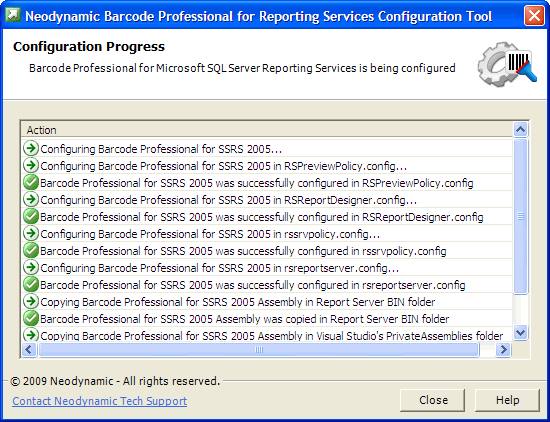 Configuring barcode professional for microsoft sql server for Dynamic configuration tool