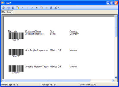 How to create Crystal Reports featuring barcode images using SQL