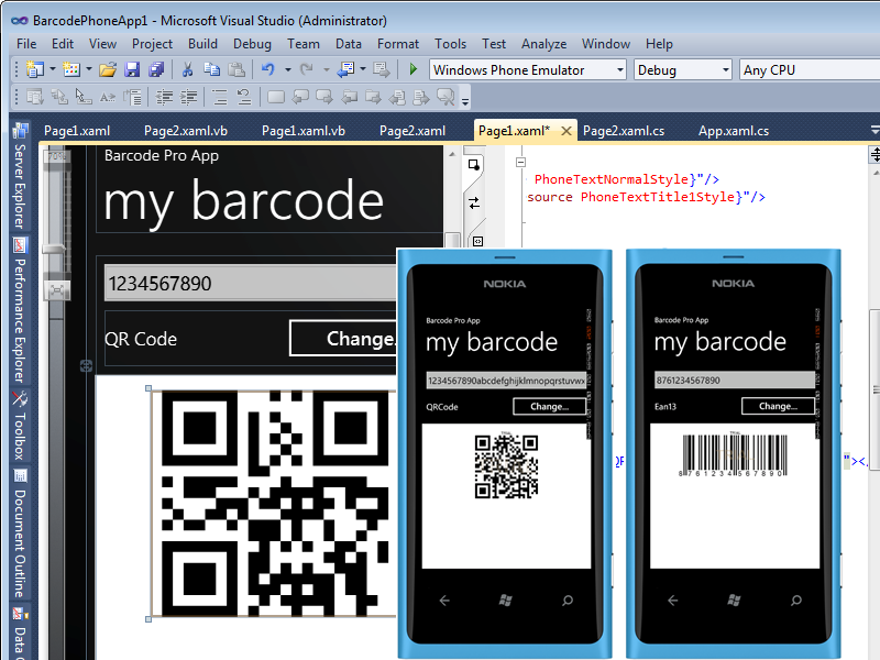 Windows Phone Barcode Professional 1.0 full