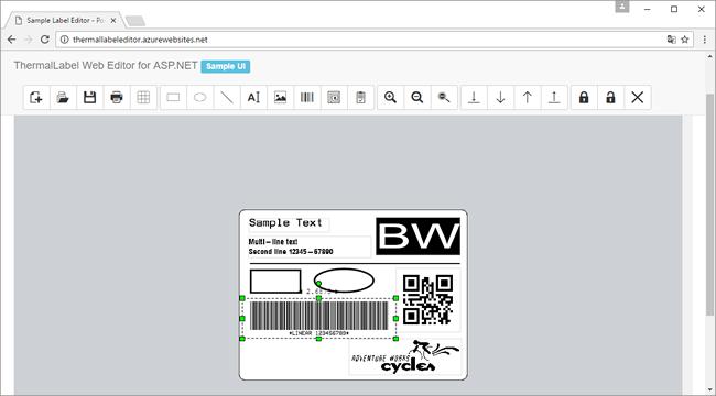 Web Label Editor