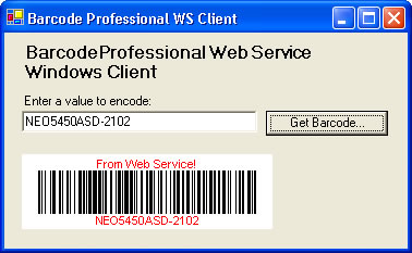 Barcode Professional WS Client