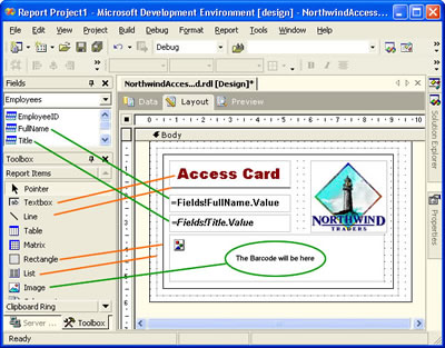 Reporting Services - Access Card report layout
