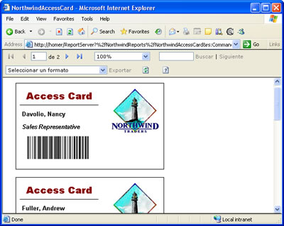 Reporting Services - Access Card Deployment