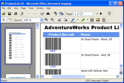 Report Server Project Barcode Sample