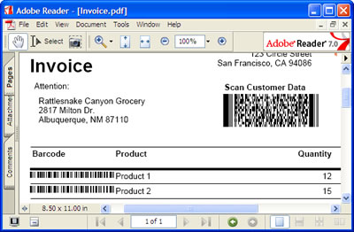 how to use barcode professional in visual studio local report, Invoice examples