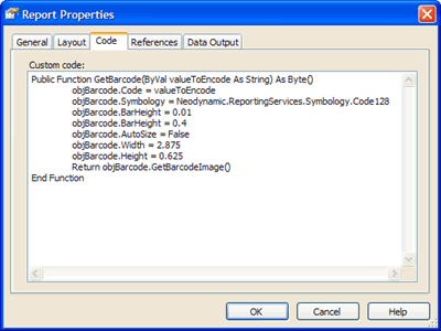 The VB.NET Function that will generate the barcode image