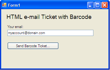HTML e-mail Ticket with Barcode