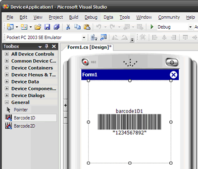 How to display barcode images onto Pocket PC, Windows CE and