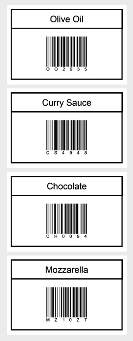 How to data binding custom objects to print barcode labels with