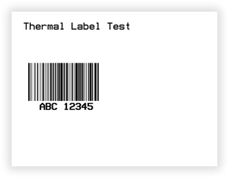 The barcode thermal label which will be printed to the client printer.