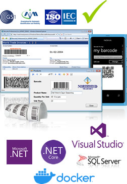 Barcode, Labeling, Printing & Imaging components for  NET, PHP