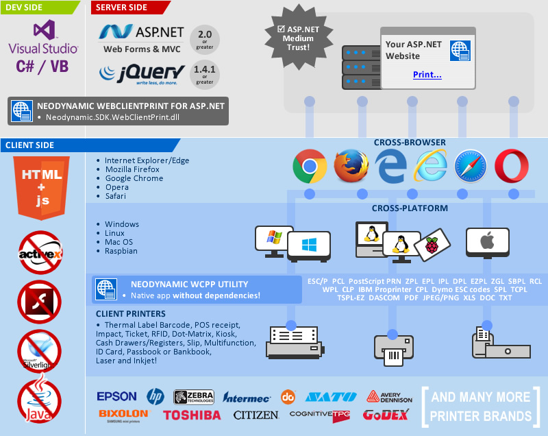 Advanced Raw Data Print for ASP NET, MVC, C# & VB