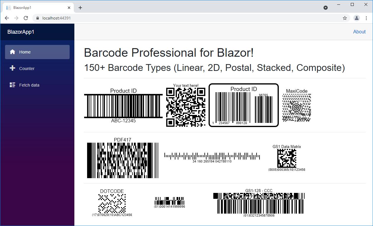 Barcode Professional for Blazor
