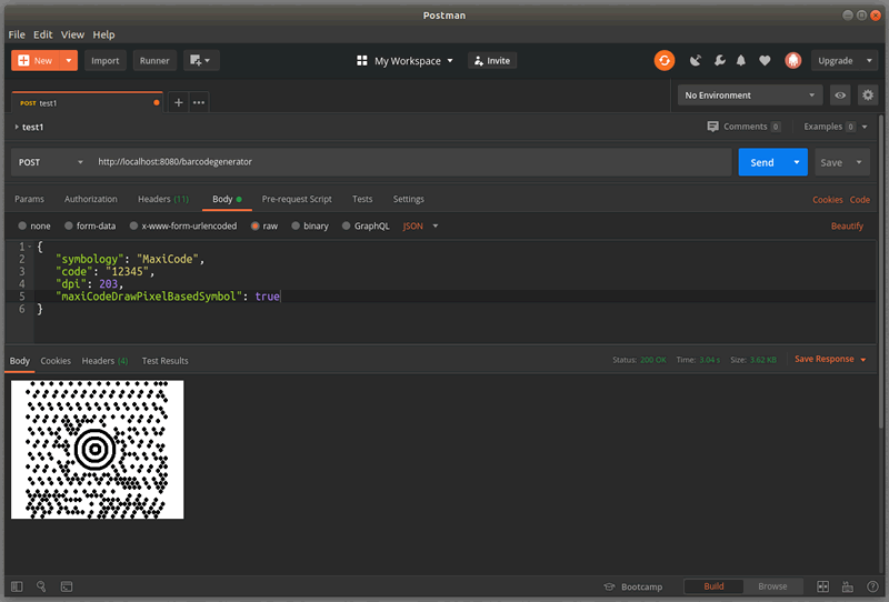 MaxiCode Barcode