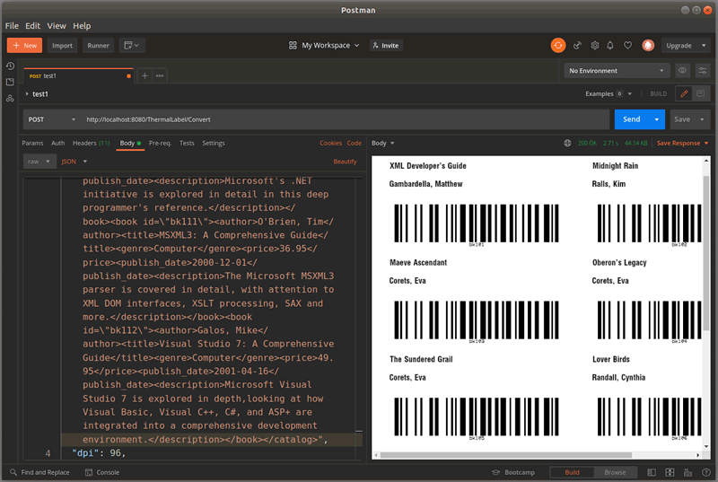 Avery Multicolumn Barcode Labels